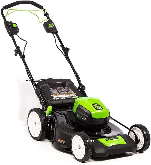 greenworks 80v self propelled lawn mower